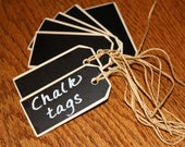 20 LARGE Chalkboard Tags with Jute Ties Measuring 3 1/4 x 1 1/2 Inches