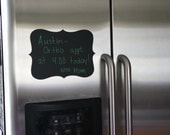 """Classic 4 Point Style Chalkboard Message Board for Refrigerator 6"""" x 9"""" Decal Label"""