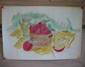 Original watercolor still life--signed by the artist:  Ready to frame