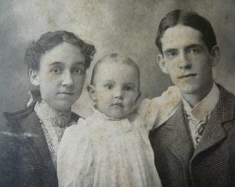 Baby Makes Three--original old photo