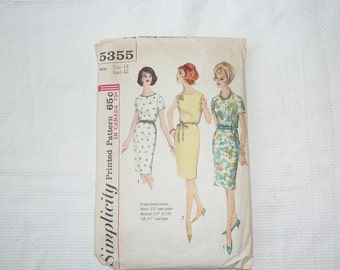 Sewing Pattern:  Mad Men Style Shift Dress--Simplicity 5355