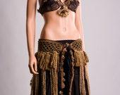 Earth tone Tribal Belly dance Costume