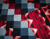 Red Southwest Quilt Throw