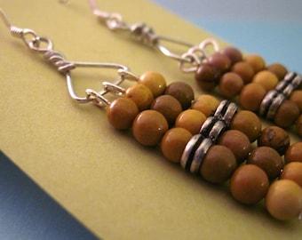 On SALE Mookaite Abacus Earrings