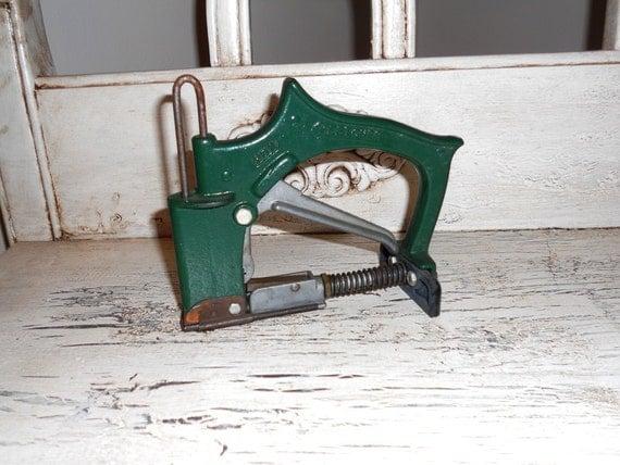 Vintage green staple gun