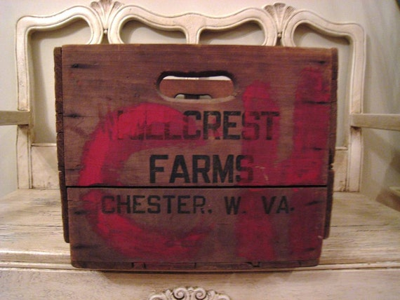 Rustic wooden orchard crate