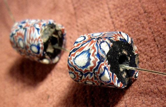 African trade bead Antique Venetian glass millefiore Murano lampwork glass