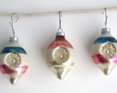 Vintage Glass Holiday Ornaments - Vintage Christmas Ornaments