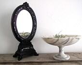 Vanity Mirror - Vintage Mirrors - Black, Standing, Ornate