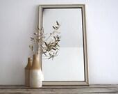 White Wall Mirror - Framed Vintage Mirror, Rustic Decorative Mirror
