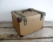 Vintage Film Reel Shipping Box - Mail Organizer, Desk / Office Organizer, Industrial, Film Container