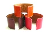 Classic Leather Bracelet - Red, Bown, Orange - perfectwear