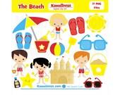 Beach Clipart Clip Digital Art Summer fun in the sun