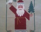Completed cross stitch Prairie Schooler Santa Claus