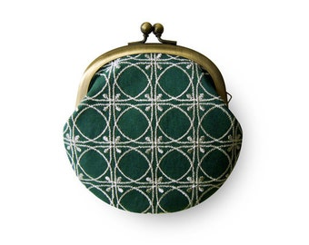Embroidered DeepGreen Coin Purse