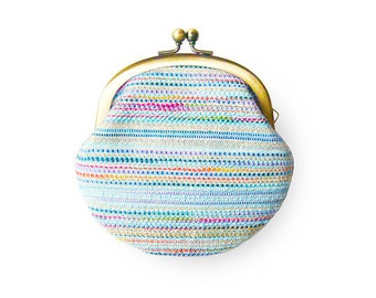 Metal frame coin purse // Colorful Spring Mist