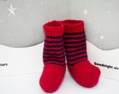 Red and Blue baby socks