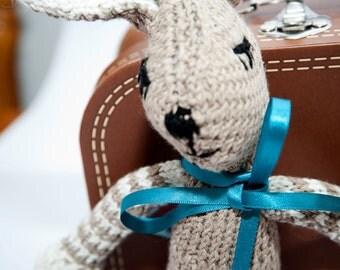 Hand Knitted Bunny ~gift ~newbaby