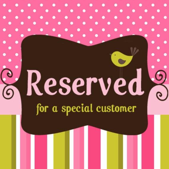 Reserved Listing for Lesley
