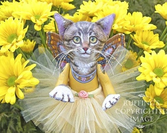 Celeste the Pixie Kitten, 6x8 on 8x10 Giclee Photo Print Signed Max Bailey and Elizabeth Ruffing, Version 1