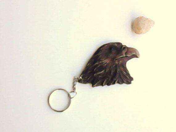 keychain eagle rustic brown bird watcher nature lover vintage