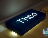 Floor Night Light with Personalized Name