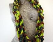 York  green multicolor loop scarf