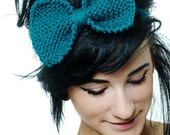Knit Headband Bow - Big Knitted Bow - Multiple Colors To Choose From