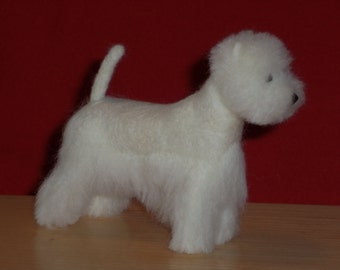 West Highland White Terrier needle felted dog example custom made to order