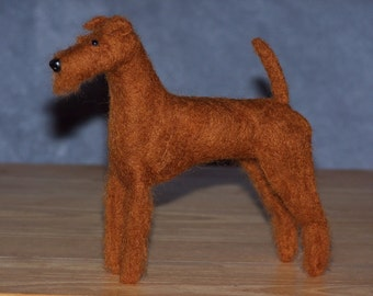 Irish Terrier needle felted dog example custom made to order