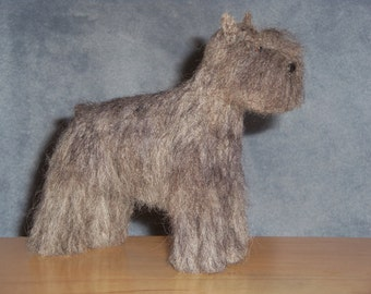 Bouvier des Flanders needle felted dog example custom made to order