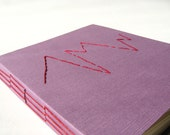 Purple/Red Embroidered Handmade Blank Book with Long Stitch Binding