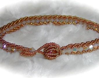 Flat Double Spiral Bracelet Tutorial