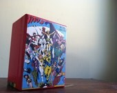 Upcycled Cigar Box with Throng of Superheroes