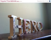 CIJ 20% OFF HERO Wood Letters with Upcycled French Fantome Comic