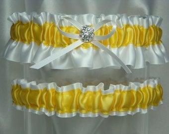 White and Yellow Garter Set