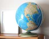 Vintage World Globe - Soviet Era Vintage Globe - World Map Earth Globe - Rand McNally International Globe - Made in the USA