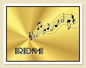 Delightful Music Themed Note Cards - Personalized (10 Folded)