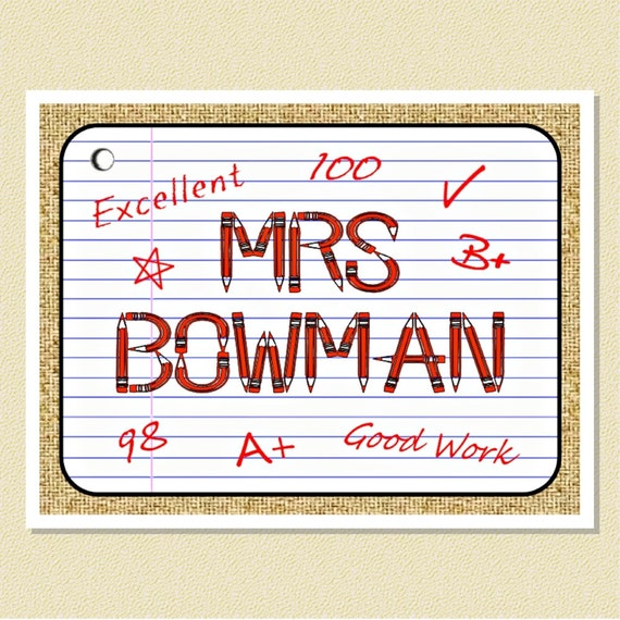 Teachers Make The Grade - Fun Personalized Note Cards (10 Folded)