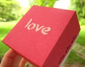 Love Gift Box. Valentine's Red. for giving... with love
