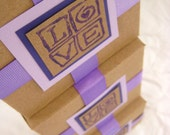 Love Squared. Gift Box. Purple and Kraft.