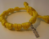 St. Joan of Arc adjustable prayer bead paracord bracelet plus 1 loose St. Joan of Arc saint medal - more colors available