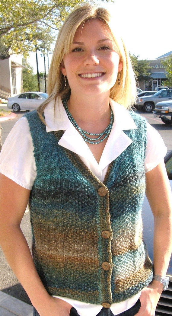 Knitting Pattern,India,knit vest,women,Noro Silk Garden ...