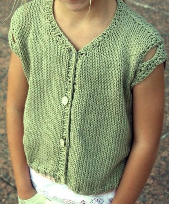 Knitting Pattern Summer Cardigan : Knitting Pattern,girls knit cardigan,crochet edge,summer ...