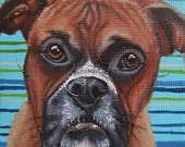 Boxer Miniature Painting with Easel