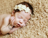 Tiny Blooms Halo Headband with five flowers with pearls adjustable perfect for photo prop girl FREE SHIPPING