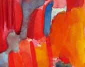 Large Art Print, Watercolor, Playground