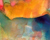 Art Print, Watercolor, Large, Autumn Day