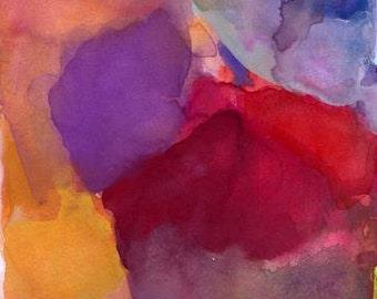 Art Print, Watercolor Painting, Calm