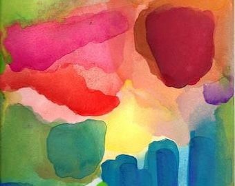 Art Print, Watercolor, Large, A New Day